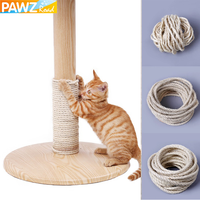 5M Natural Sisal Rope Durable 4/6/8mm DIY Making Desk Chair Legs Cat Scratching Post Toy Bingding Material For Cat Sharpen Claw