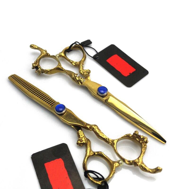 6 дюйм(ов) Дракон Дизайн позолота Ножницы парикмахерские Ножницы. FH-10562