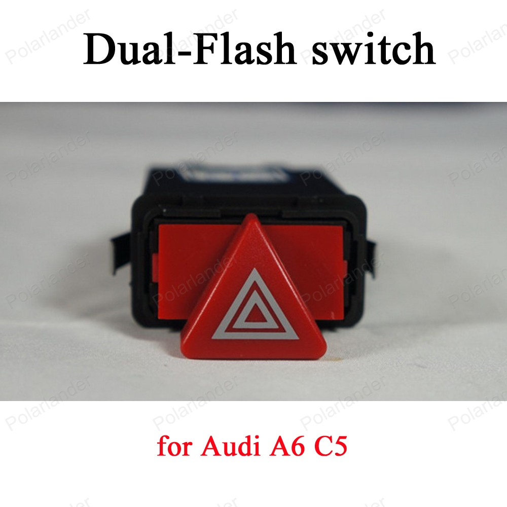 ФОТО for A-udi A6 C5 Warning light Dual Flash Switch Button 9 pin Emergency Lamp switch  4B0 941 509 c