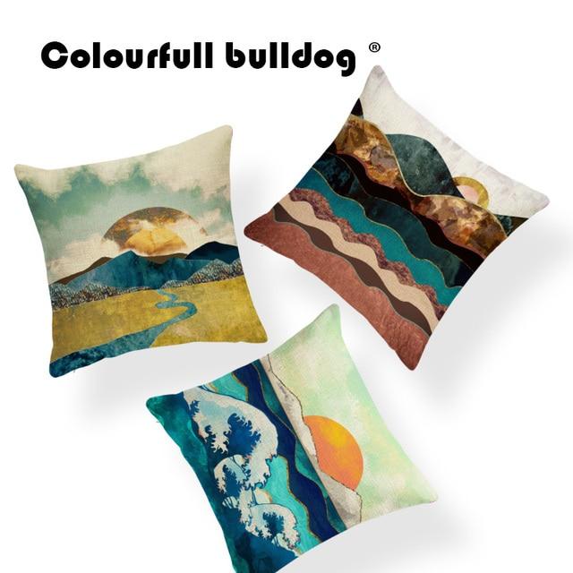 Mountains Sunrise Cloud Cushion Sky Cover Pillow Shabby Chic Home
