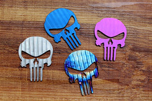 Titanium Alloy Punisher Metal Stickers Phone Not Corroded Rusty Edc Decorative