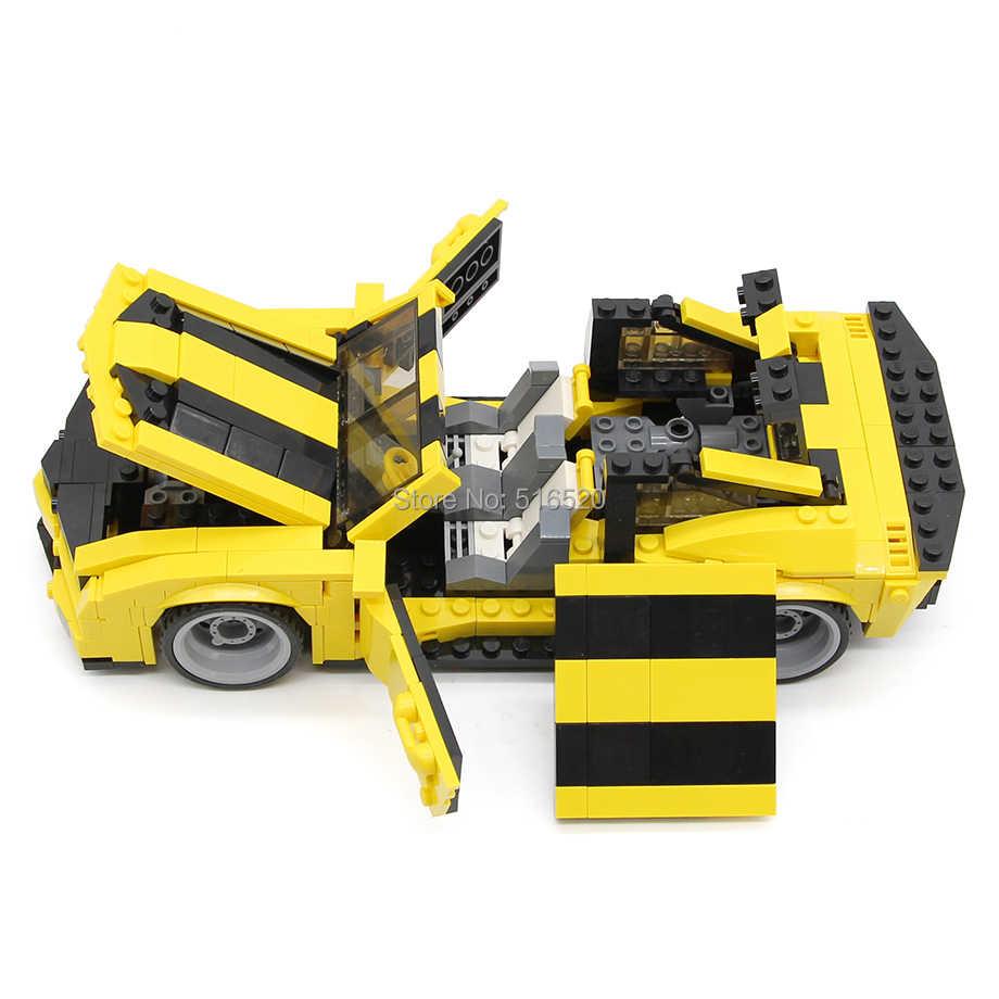 GUDI miasta przekształcić robota 32cm bloki samochodów 584pc cegły budynek klasyczny prezent edukacyjny zabawki dla dzieci
