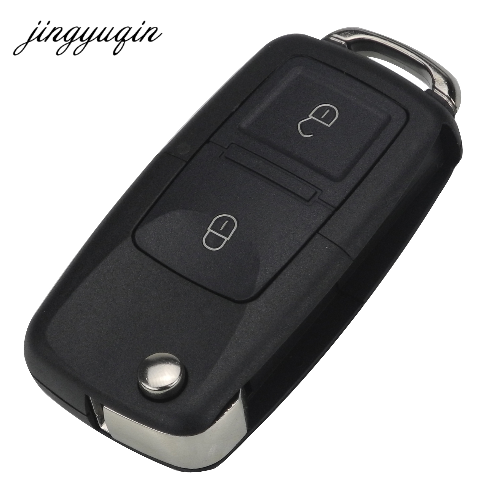 jingyuqin No Blade 2/3 Button Remote Flip Folding Car Key Shell for VW MK4 Bora Golf 4 5 6 Passat Polo Bora Touran воздушный фильтр 1j0201801h vw bora mk4