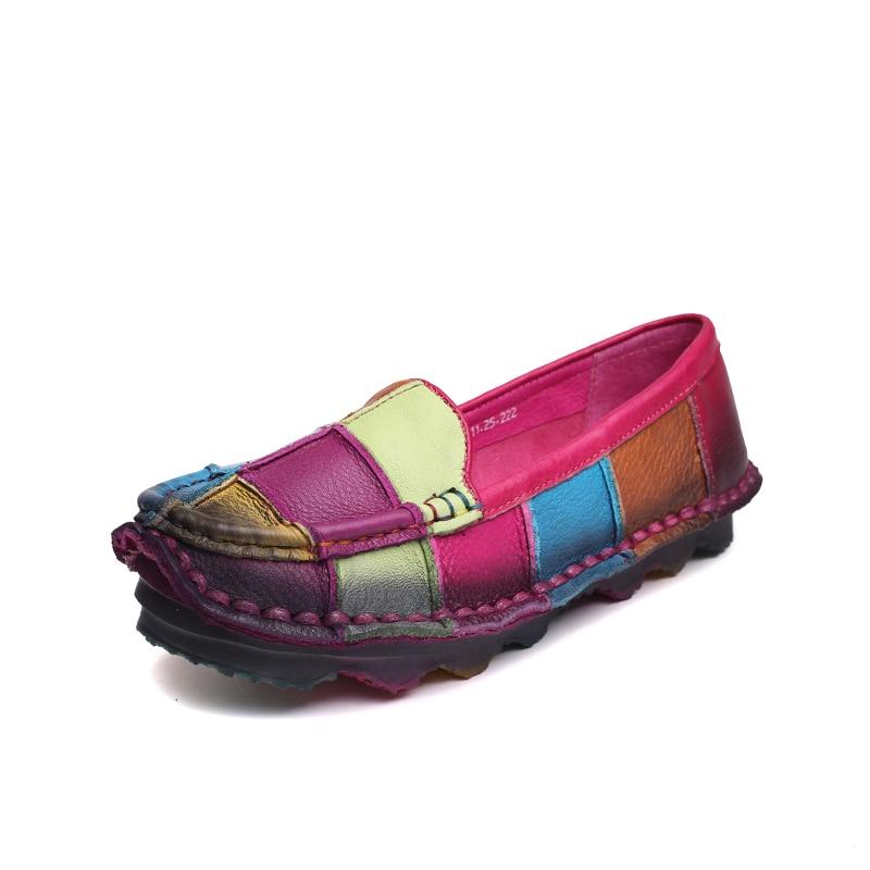 Enceintes Chaussures Plus C302 Rouge Mocassins En rose Appartements Occasionnels Noir La Perdants Femme Femmes bleu Timetang Cuir Taille Automne FqCtxwCRg