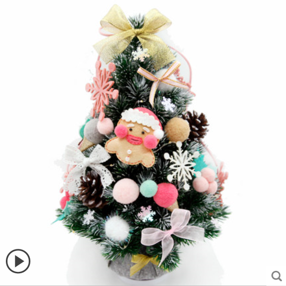 Children DIY Felt Christmas Tree With 30pcs Decoration Simulation Pendant