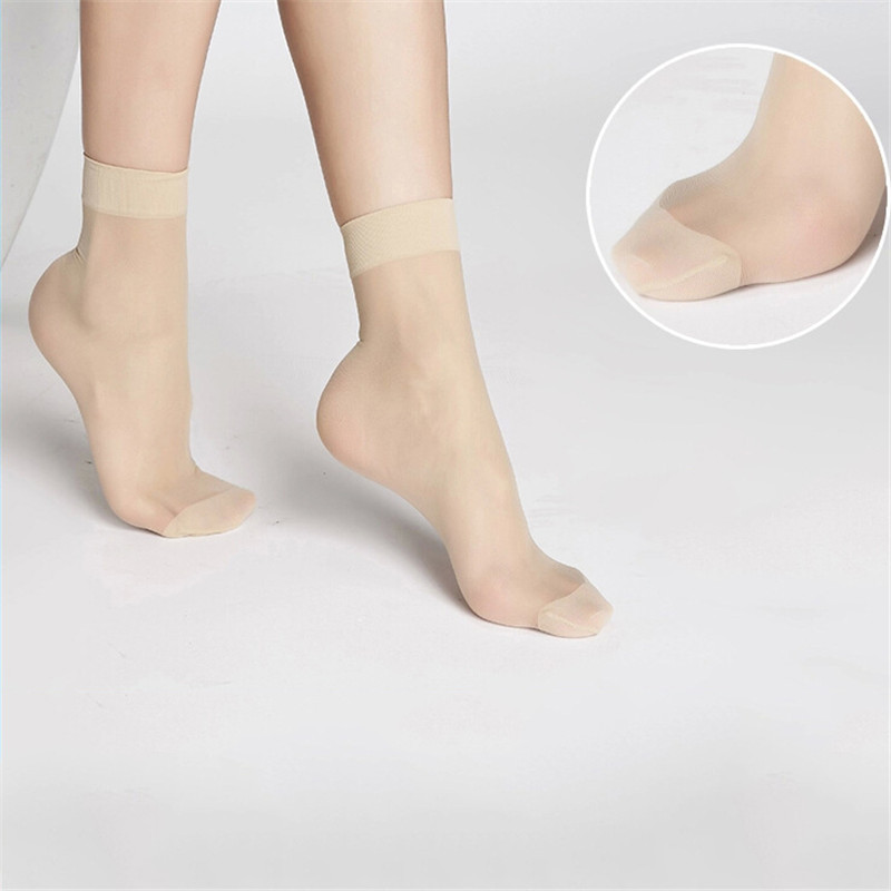 10 Pairs Of Women's Short Socks Girls Fine Thin Socks Summer Transparent Crystal Socks Invisible Elastic Ankle Sock Female Sox