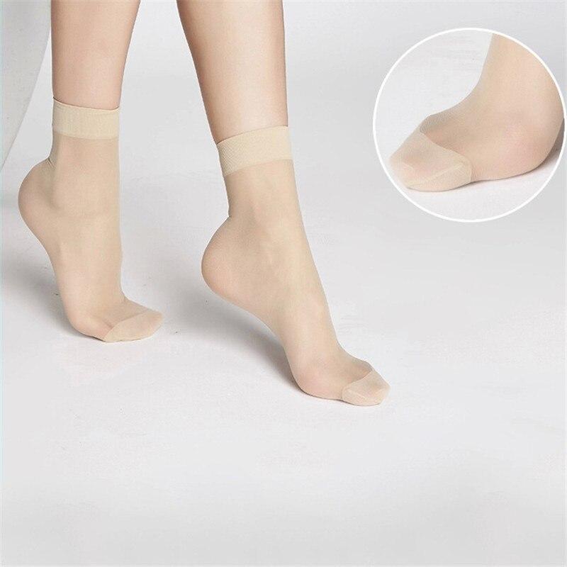 10 Pairs Of Women's Short Socks Girls Fine Thin Socks Summer Transparent Crystal Socks Invisible Elastic Ankle Sock Female Sox