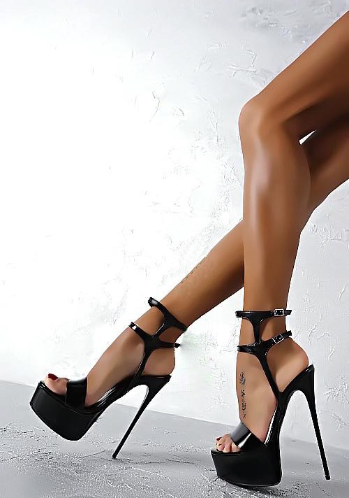 YX GIRL Sexy high heels women pumps Cross tied buckle platform shoes Lady Nightclub open toe Fish mouth 16 cm heels stilettos