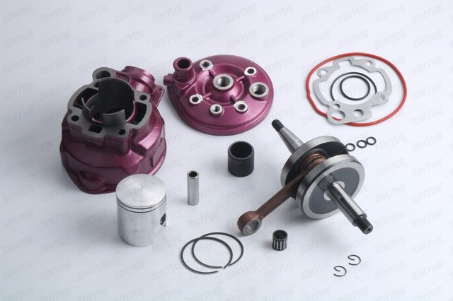 Crankshaft + CYLINDER CYLINDER TOP PURPLE RACING MINARELLI AM3 / 4/5 AM6 D.49MM (12mm)