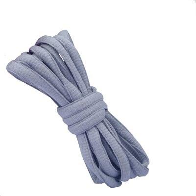 """100 см/3"""" овальные плоские шнурки Шнурки кроссовок 24 цветов для выбора - Цвет: No 6 gray"""