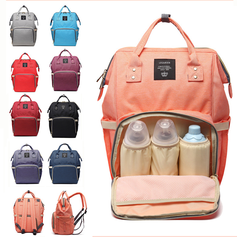 Lequeen Large Capacity Baby Diaper Bag Maternity Nappy Diaper Bags Travel Mummy Backpack Bag Baby Care Stroller Nursing Bag