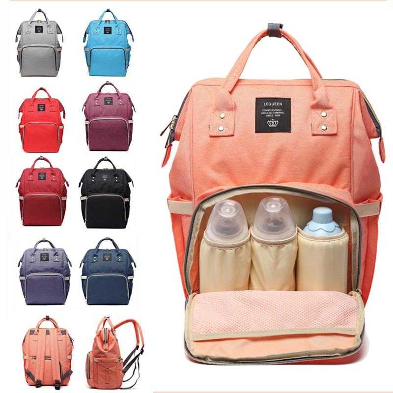 Lequeen Large Capacity Baby Diaper Bag Maternity Nappy Diaper Bags Travel Mummy backpack Bag Baby Care Stroller Nursing BagDiaper Bags   -