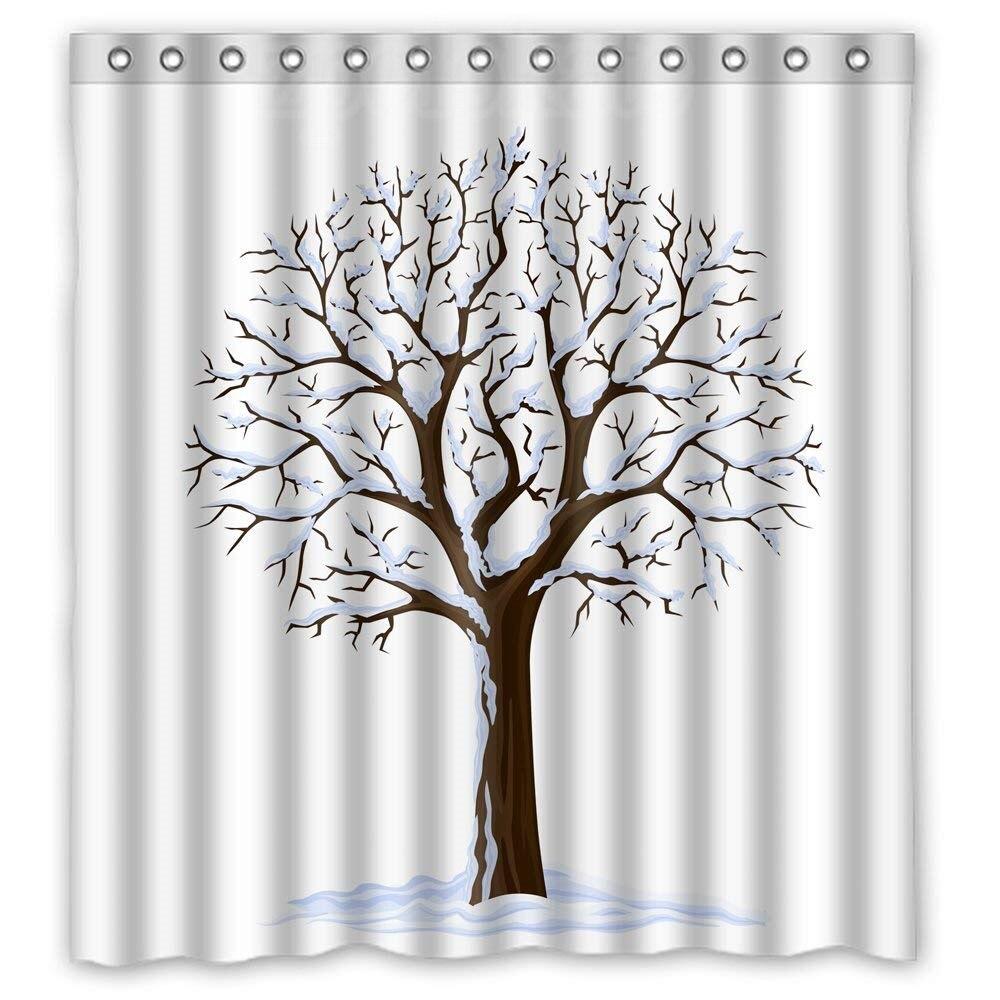 Slimmingpiggy Polyester Tree Douche Gordijnen Gift Of Decor Voor Kunstwerk Koppels Bf Meisjes Haar. Easy Care-stof Jaarlijkse Koopjesverkoop