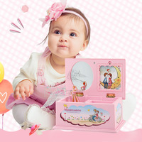 Fantasy Children Cartoon Music Jewelry Case Box Toy With A Rotating Doll Girls Christmas Birthday Gift