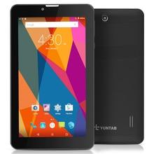 "7 ""E706 Yuntab Tableta GPS de Doble Tarjeta SIM Mini 1.2 GHz Quad núcleo Cortex A7 IPS de Doble Cámara de 1 GB + 8 GB Phone Call Tablet PC"