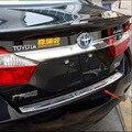 De coches de estilo Para 2012 2013 2014 2015 Toyota camry Inoxidable tronco de acero guardia plate pie del tope posterior Protector de parachoques Trasero alféizar