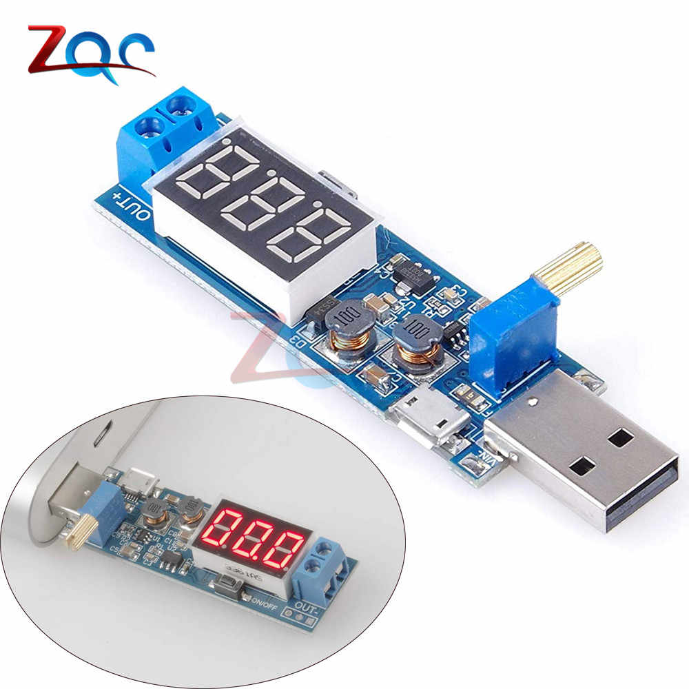 DC-DC 5 v tot 3.5 v/12 v USB Step UP Step Down Power Supply Module Verstelbare Boost Buck converter Out DC 1.2 v-24 v XY-UP
