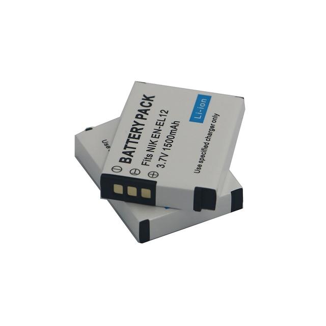 1500mAh EN-EL12 EN EL12 Battery for Nikon CoolPix S610 S610c S620 S630 S710 S1000pj P300 P310 P330 S6200 S6300 S9400 S9500 S9200 4