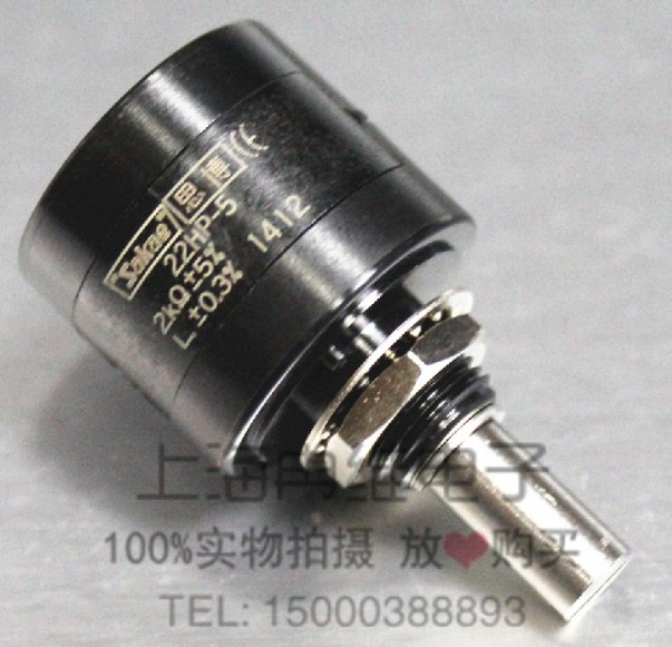 все цены на [VK]  Japan original sakae 22HP-5 5K 5 laps multiple coil wire-wound potentiometers SWITCH онлайн