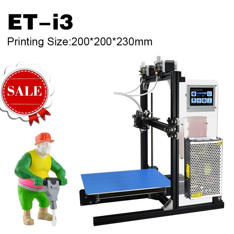 2017 New Arrival Versatile 3D tiskalnik ET I3 DIY 3-D Printer Machine Color Touch Screen Metal Frame Reprap High Speed Large Bed