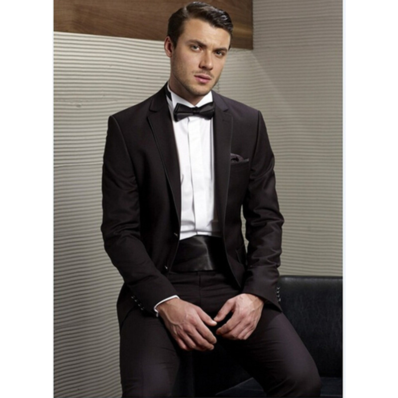 Men/'s Wedding Groom Tuxedos Groomsman Best Man Custom Made Formal New Style Suit