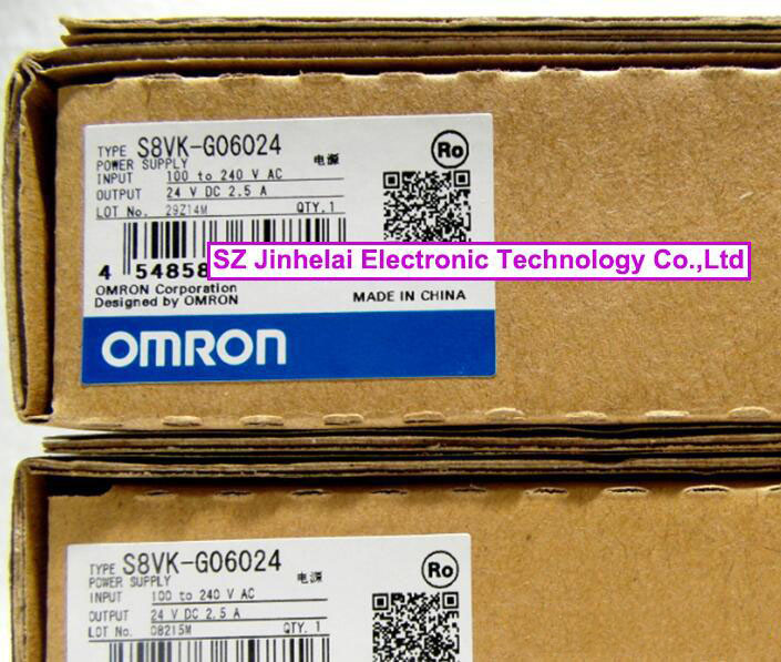 100%New and original S8VK-G06024 OMRON Switching power supply  2.5A  1pc used omron s8vs 06024