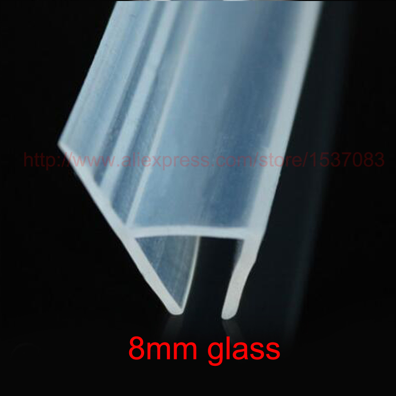 3 meters h shape silicone rubber shower door glass sealing strip weatherstrip for 8mm glass