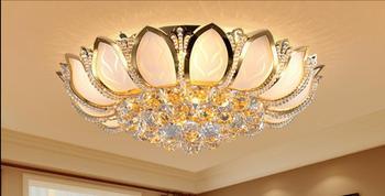 Простая современная лампа для гостиной, люстра, лампа для всасывания воздуха в спальню, Европейский фонарь, Круглый зал, бытовая хрустальна...