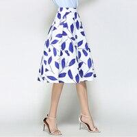2017 High Quality Small Fresh Skirt High Waisted Skirt Printed Retro Princess Skirt In The Long