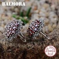 100 Real Pure 925 Sterling Silver Earrings Jewelry Elegant Stud Earrings For Women Free Shipping SLS30192