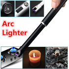 Rechargeable USB Electric Arc Flameless Cigarette Lighter Plasma Windproof USB Recharge Lighter Smoking Tool