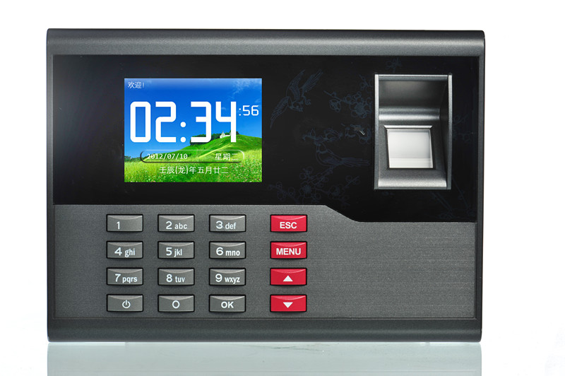 Free Shipping! TCP/IP Fingerprint Time attendance TFT Time Recorder Clock System A-C121 free shipping ko h26t tcp ip biometric fingerprint time attendance time clock time recorder