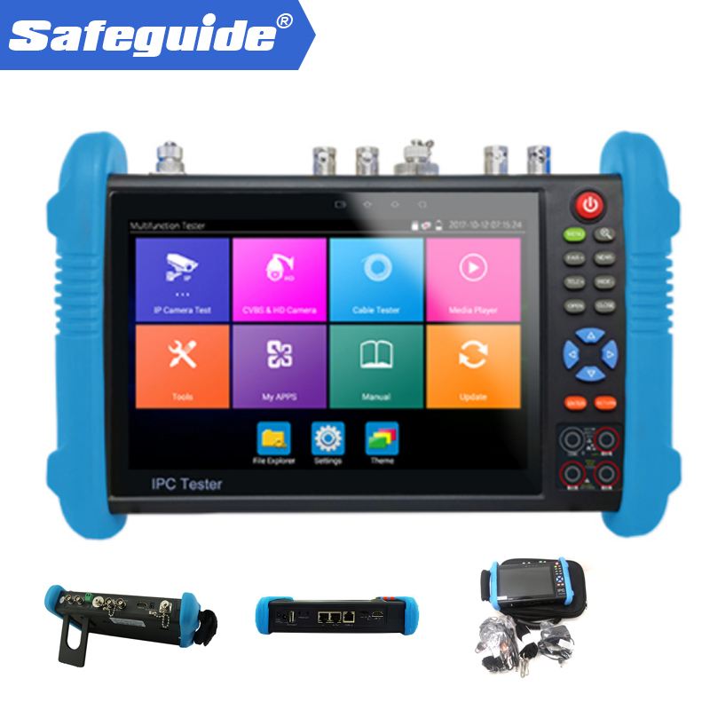 hot new products multi function cctv tester 5MP 4MP AHD TVI CVI Camera tester for IPC