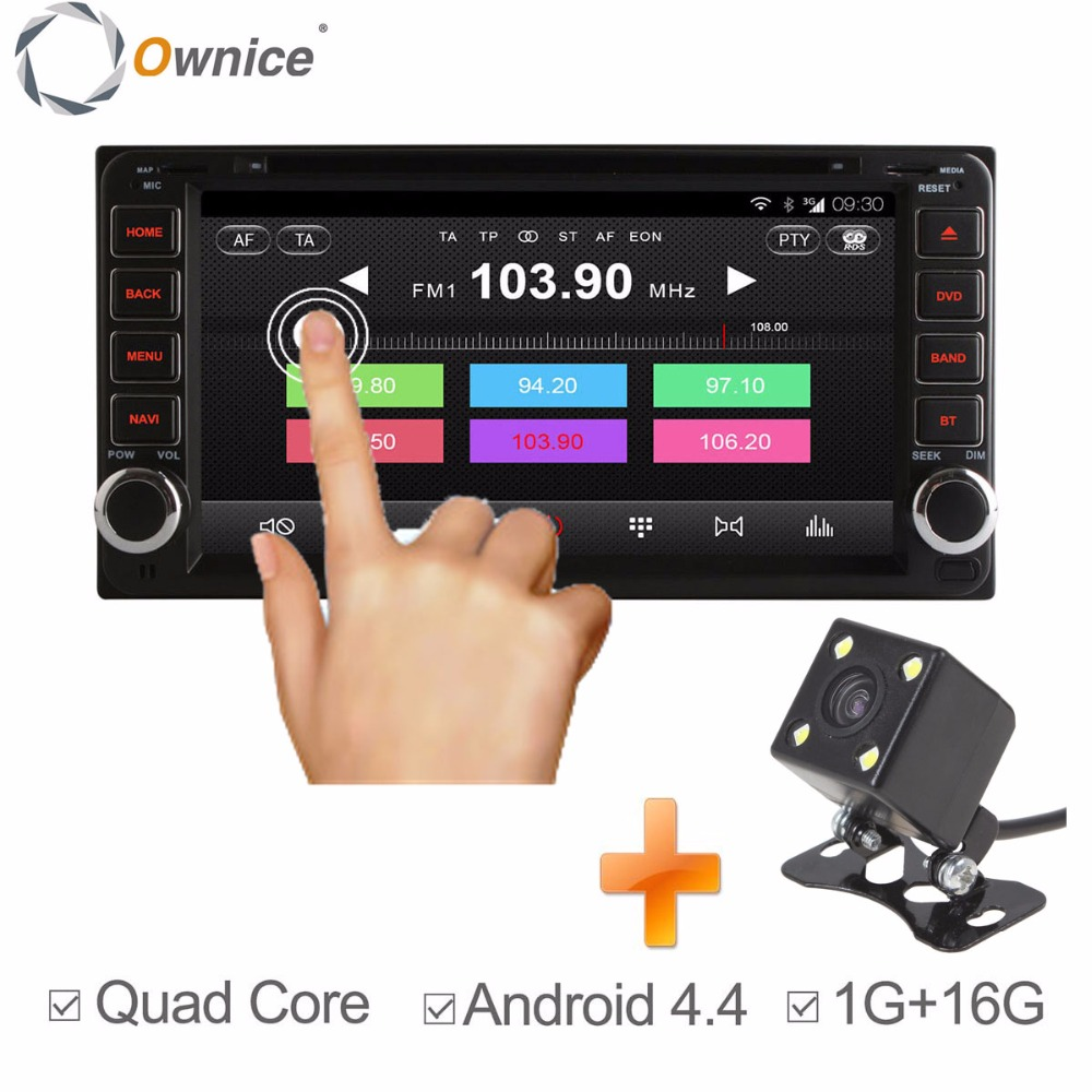 Ownice Quad Core Android 4.4 Car DVD Multimedia Player GPS for Toyota RAV4 Corolla Camry Vios Hilux 1G + 16GB