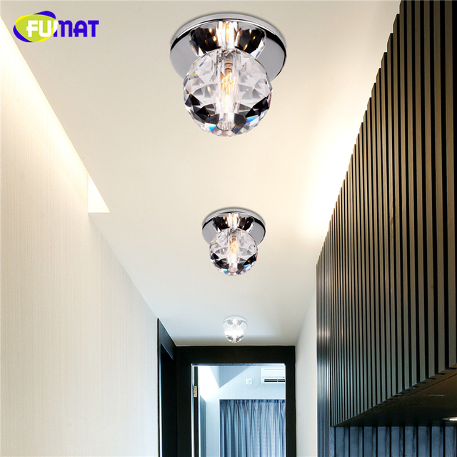 FUMAT Modern Ceiling Light K9 Crystal Ball Lustre Mount Hallway Lighting Fixture led plafondlamp luminaria Pendant ceiling Lamp