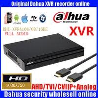 Original Dahua XVR 4 8 16 Ch 720P 1U Security XVR4104HE XVR4108HE XVR4116HE Support HDCVI AHD