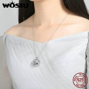 Image 5 - Nieuwe Aankomst 100% 925 Sterling Zilver Drijvende Medium Hanger Kettingen Fit Petite Bedels Voor Vrouwen Diy Sieraden CRF001