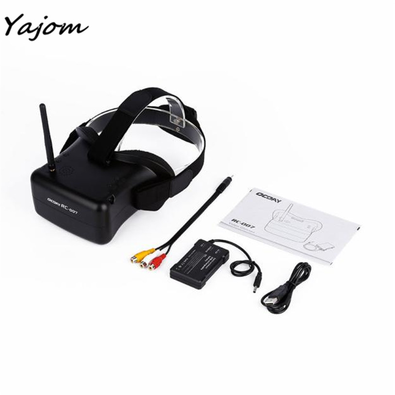 Free for shipping OCDAY 40CH FPV 5.8G 3dB HD FPV Goggles Video Glasses for 4.3 inch Screen Brand New High Quality May 5 free shipping fpv 5 8g rc805