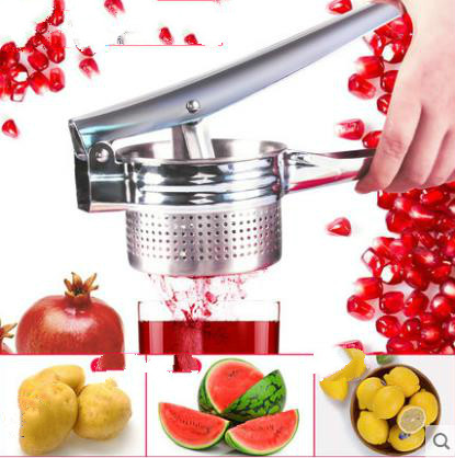 Stainless steel manual juicer Grapes, watermelon to squeeze juice, pomegranate juice baby side dish juice press machine image