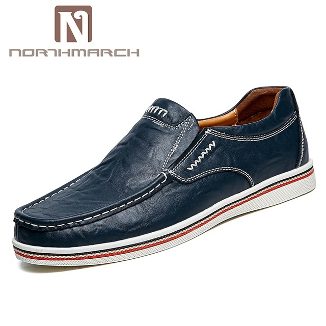 Northmarch New Shoes Men Spring 2018 Casual Mens Shoes Leather Slip