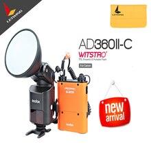 Free DHL! Newest Godox AD-360 MARK II AD360II-C E-TTL Bare Tube Camera Outdoor Flash With PB960 Power Battery Kit Orange Color