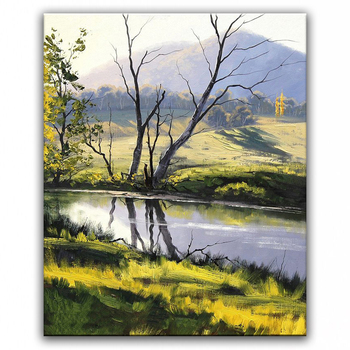 100% hand painted oil painting Home decoration high quality landscape  painting pictures    DM16071926