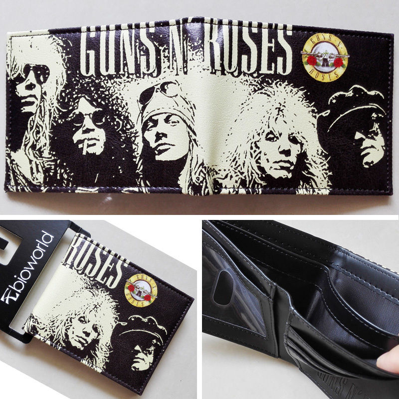 2018 New The music band Guns N' Roses G N' R GnR LOGO wallets Purse Leather W143 guns n' roses use your illusion i 2 lp