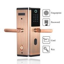 Biometric ลายนิ้วมืออัจฉริยะ Keyless อิเล็กทรอนิกส์รหัสรหัสผ่านประตูล็อค