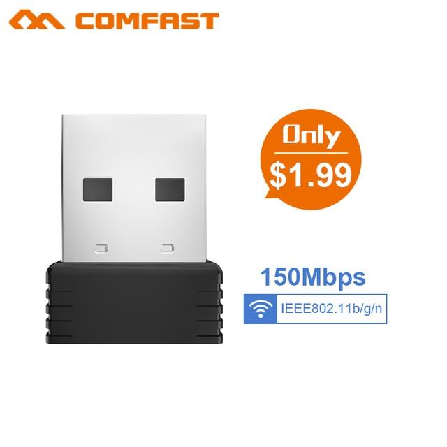 Ucuz Mini USB wifi adaptörü 802.11n Anten 150 Mbps USB Kablosuz Alıcı Dongle MT7601 Ağ Kartı Wi-Fi Için Masaüstü Dizüstü