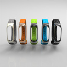Reemplaz Extended Strap Xiaomi Mi Band 2 Strap Carbon Fiber Watchband Xiaomi band 2 Wearable Accessories Wrist belt for Xiaomi