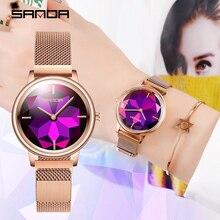 New Sanda Womens Luxury Brand Women Watches Milan Quartz Waterproof Watch Fashion Casual reloj mujer