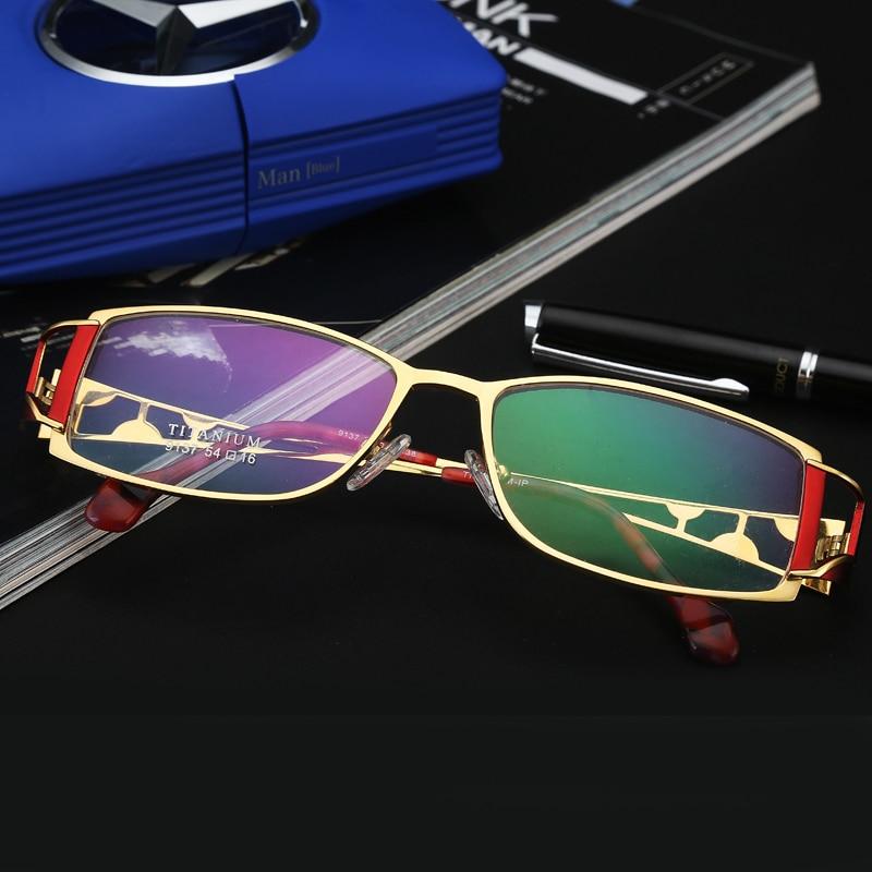 チャシュマブランドデザイナーチタン女性フレーム Lentes Opticos Gafas トップ品質眼鏡女性眼鏡ため累進レンズ  グループ上の アパレル アクセサリー からの 眼鏡フレーム の中 1