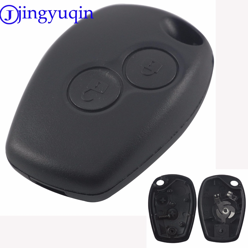 jingyuqin 2 Buttons Car Key Shell Remote Fob Cover Case Blank Fob For Renault Dacia Modus Clio 3 Twingo Kangoo 2 No Logo jingyuqin new 1 button uncut blade remote car key shell for renault twingo clio kangoo master no chip keyless entry fob case page 2