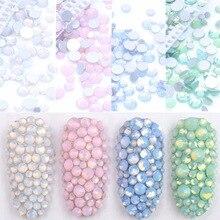 350 шт смешанные размеры синий/зеленый/розовый/белый опал дизайн ногтей не исправление хрусталя и искусственного алмаза AB Цвет, стекло кристалл украшения ногтей
